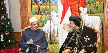 لقاء شيخ الأزهر والبابا تواضروس