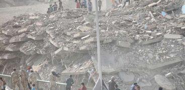 عقار فيصل بعد تفجيره أمس