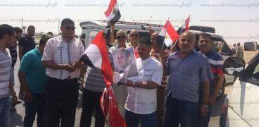 """آلاف """"الشراقوة"""" يتوجهون إلى القاهرة للمشاركة في مظاهرات تأييد الرئيس"""
