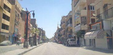 شوارع الاقصر تخلو من المواطنين