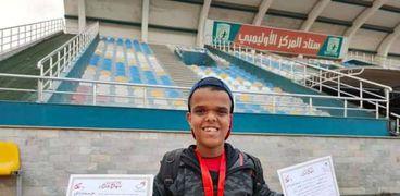 أحمد عبدالناصر لاعب منتخب قصار القامة