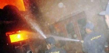نفوق 10 رؤوس ماشية في حريق بمنزلين وحوش ماشية بسوهاج