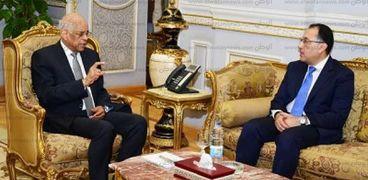 الدكتور مصطفى مدبولي مع رئيس البرلمان