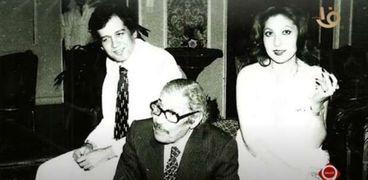 نادية الجندي وعماد حمدي ومحمد مختار