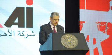 د.محمد شاكر وزير الكهرباء في مؤتمر الأهرام للطاقة