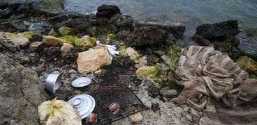 حلقة طعام اخر ما تبقي من ضحايا المركب الغارق في بحيرة مريوط غرب الإسكندرية