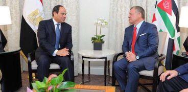 عاجل| السيسي يلتقي ملك الأردن في أمريكا
