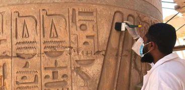 ترميم صالة الأعمدة الكبرى لمعبد الكرنك تمهيدا لاحتفالية «طريق الكباش»