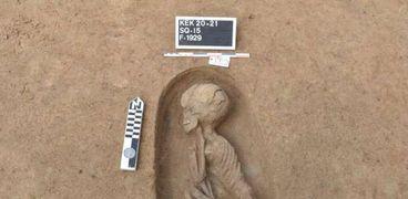 مقابر الكشف الأثري بكوم الخلجان في الدقهلية
