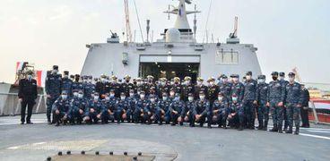 القوات البحرية تتسلم الفرقاطة الشبحية «بورسعيد» من ترسانة الإسكندرية