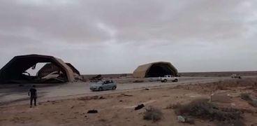 قاعدة الوطية الليبية المحتلة