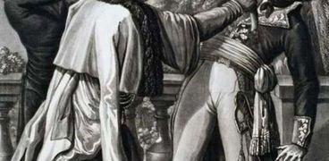 لوحة فنية تجسد قتل كليبر