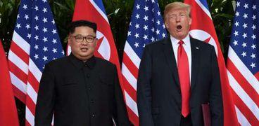 دونالد ترامب وكيم جونج أون