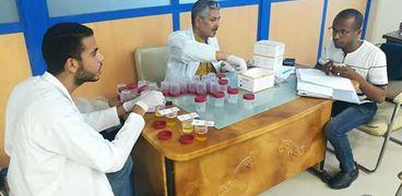 اجراء كشف تحليل المخدرات على الموظفين بالجهاز الإدارى للدولة
