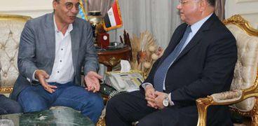 محافظ القاهرة يستقبل هيثم الحاج
