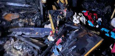خسائر فادحة في حريق التهم 20 منزلا وحظيرة بسوهاج.. «صور»