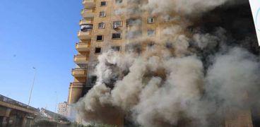 حريق مخزن حي الهرم