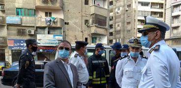 محافظ الإسكندرية ينتقل على الفور لمستشفى البدراوي لمتابعة تداعيات الحريق الحادث به