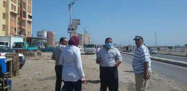 حملة نظافة ورش مياه في شوارع بلطيم