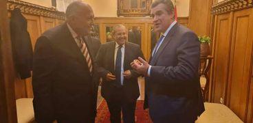 وزير الخارجية سامح شكري ورئيس لجنة العلاقات الخارجية بالبرلمان الروسي