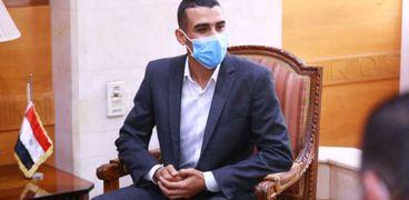 عبد الله أثناء لقائه بوزيرة التضامن