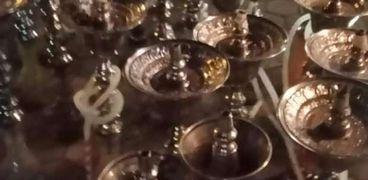 مصادرة الشيشة من مقهى مخالف