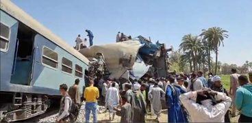 حادث قطار سوهاج