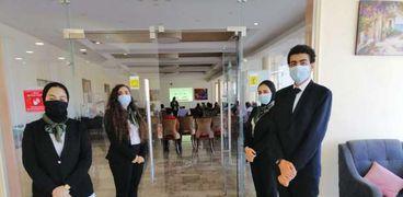 صورة أرشيفية للإجراءات الإحترازية في الفنادق