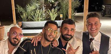 أحمد الفيشاوي ومحمد رمضان مع المنتج سيف عريبي