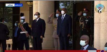 وصول الرئيس عبدالفتاح السيسي للخرطوم