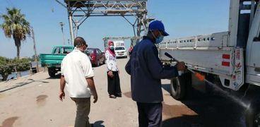 """حملات تطهير وتعقيم للحد من انتشار"""" كورونا"""" في كفر الشيخ"""