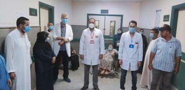 جانب من حالات التعافي داخل مستشفى الواسطى ببني سويف