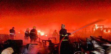 عاجل.. حريق كبير في سوق بالعاصمة العراقية «بغداد»