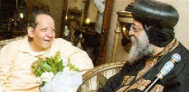 البابا خلال زيارته السابقة لجورج سيدهم