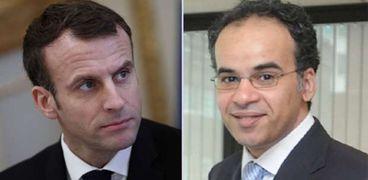 الإعلامي طارق الحميد وإيمانويل ماكرون
