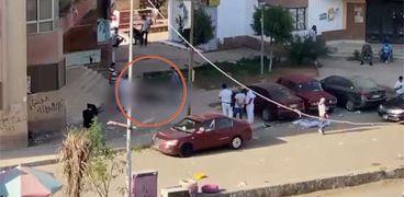 موظف يقتل زوجته بالرصاص وينتحر من الطابق الخامس في مدينة نصر