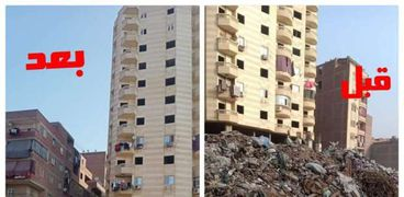 فع 5 ألاف طن مخلفات وتراكمات من شوارع ترعة الزمر والاخلاص بمحافظة الجيزة
