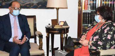 الدكتورة إيناس عبدالدايم وزيرة الثقافة تستقبل السفير التونسي