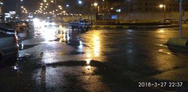 سقوط أمطار بمدينة 6 أكتوبر
