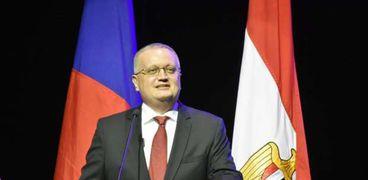 جيورجي بوريسينكو سفير روسيا بالقاهرة خلال إطلاق فعاليات عام التبادل الإنساني المصري الروسي