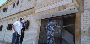 """حملات لتعقيم الشوارع وفض تجمعات الاسواق لمواجهة"""" كورونا"""" في كفر الشيخ"""