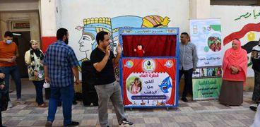 خلال حملة توعية بمدرسة الأمل للصم وضعاف السمع بالمنيا