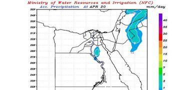 نماذج سقوط الأمطار المتوقعه في مصر