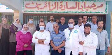 معمل محطة أبو شلبي لمياه الشرب بمركز فاقوس