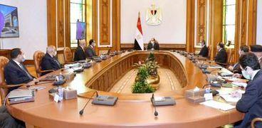 الرئيس عبدالفتاح السيسي خلال الاجتماع اليوم