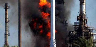 حريق شركة العامرية للبترول