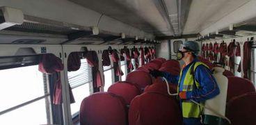حملات لتعقيم جميع قطارات السكة الحديد للوقاية من كورونا