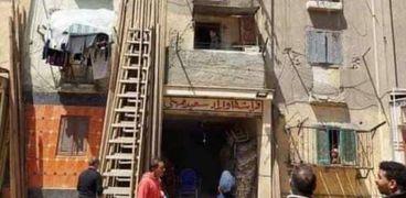 حريق داخل غرفة نوم باحدي العقارات في الإسكندرية