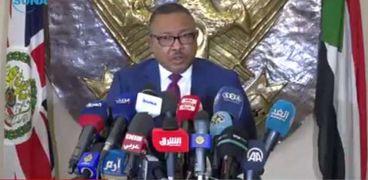 وزير الخارجية السوداني في المؤتمر الصحفي مع نظيره البريطاني