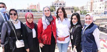 الدكتورة نيفين القباج وزيرة التضامن الاجتماعى خلال تفقدها مستشفى بهية